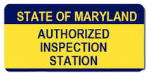 state of Maryland inspection station